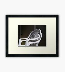 THE original White Plastic Chairs Framed Print