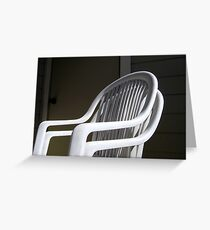 THE original White Plastic Chairs Greeting Card