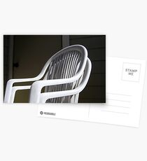THE original White Plastic Chairs Postcards