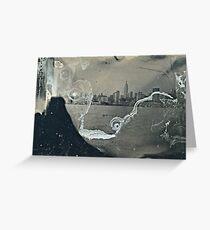 "NYC Skyline with ESB ""tintype"" photograph Greeting Card"