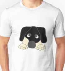 dachshund black and cream peeking T-Shirt