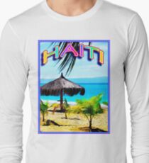 HAITI : Vintage Tourism Advertising Print T-Shirt