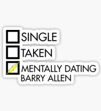 Mentally dating Barry Allen Sticker