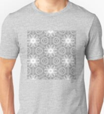 Black and white flowers pattern T-Shirt
