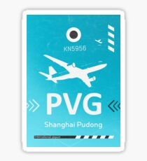 PVG Shanghai Pudong airport code Sticker
