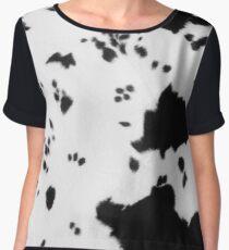 Cowhide Black and white 2 Women's Chiffon Top