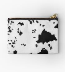 Cowhide Black and white 2 Studio Pouch