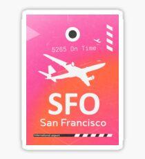 SFO San Francisco airport code Sticker