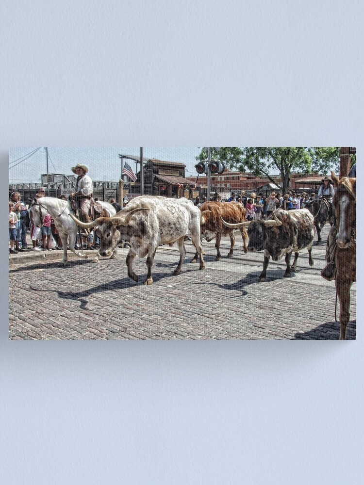 Alternate view of The Cattle Drive Canvas Print