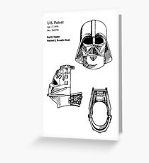 Darth Patent SW Greeting Card