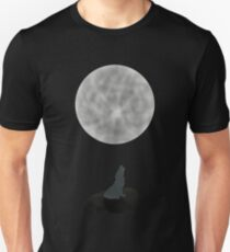 Heulender Wolf Mond Mitternacht Damen T-shirt XS-3XL