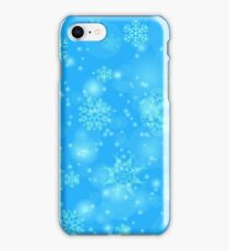 Abstract Winter Snow Background. Abstract Winter Pattern.  Snowflakes Background iPhone Case/Skin