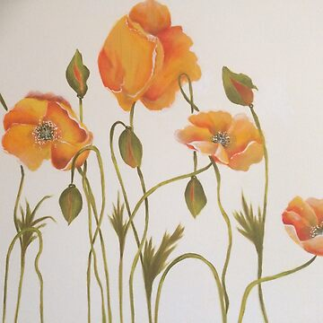 Orange Poppies by LindaCorbitt