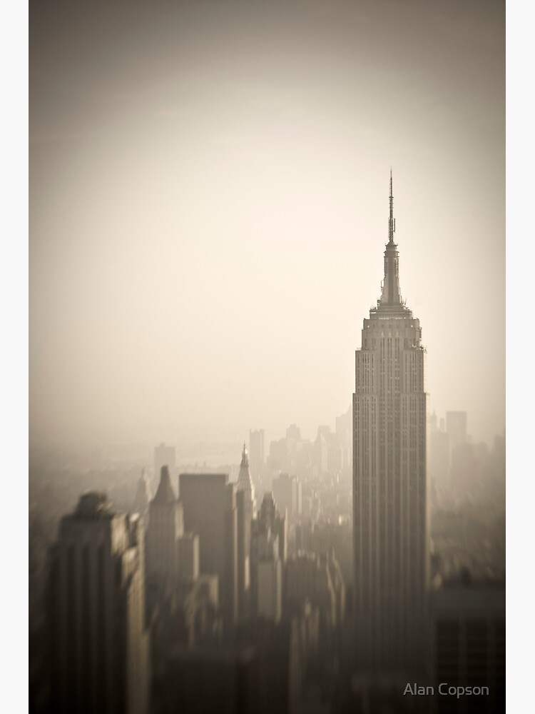Empire State Building and Manhattan Skyline by AlanCopson