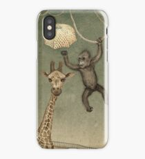 monkey giraffe iPhone Case/Skin