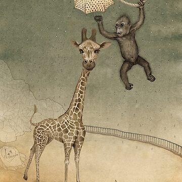monkey giraffe by Ruta