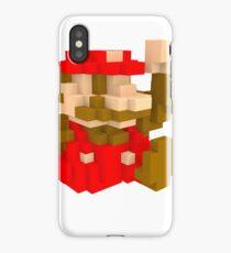 Mario Voxel art amiibo iPhone Case