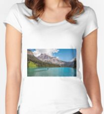 Rowboat on Emerald Lake Women's Fitted Scoop T-Shirt