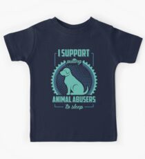 I Support Putting Animal Abusers To Sleep Kids Clothes
