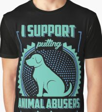 I Support Putting Animal Abusers To Sleep Graphic T-Shirt