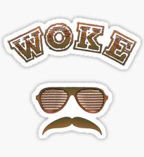 Woke - Mustache Man Version Sticker