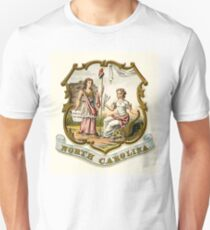 North Carolina state coat of arms illustrated in 1876 T-Shirt
