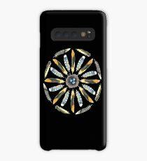 Feather Mandala 1 - Black - Watercolor Case/Skin for Samsung Galaxy