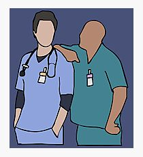 JD and Turk Scrubs Photographic Print