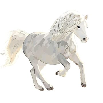 White Horse Design by MyBloomingBook