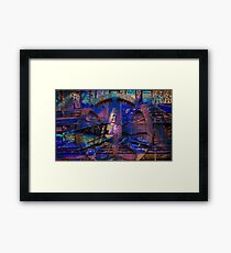 Buddha message Framed Print