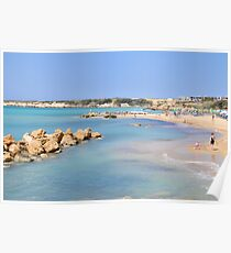 The rocky coast at Paphos, Cyprus  Poster