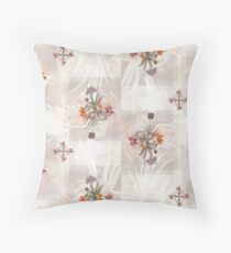 Floral Pattern (#CreateArtHistory) Throw Pillow