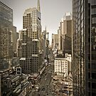 Broadway looking towards Times Square - Manhattan  by Alan Copson