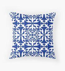 Moroccan tile - cobalt blue Throw Pillow
