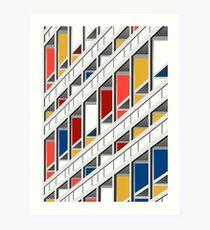 Architecture illustration le corbusier Art Print