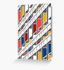 Architecture illustration le corbusier Greeting Card