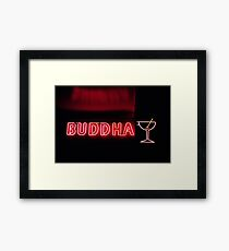 Buddha sign Framed Print