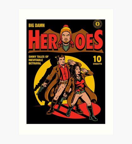Heroes Comic Art Print