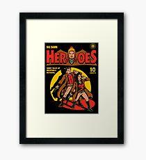 Heroes Comic Framed Print