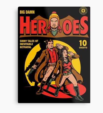 Heroes Comic Metal Print