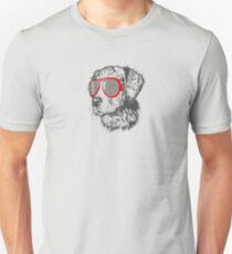 style dog with glasses Unisex T-Shirt
