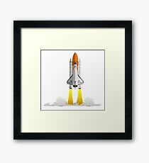 Discovery Space Shuttle W/out strokes Framed Print