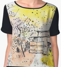 The Old Shed Out the Back Women's Chiffon Top