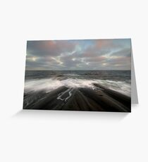 i am like the breeze on the ocean waves Greeting Card