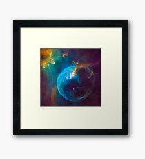 Blue Nebula Space Framed Print