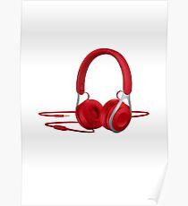 Music headphones Poster