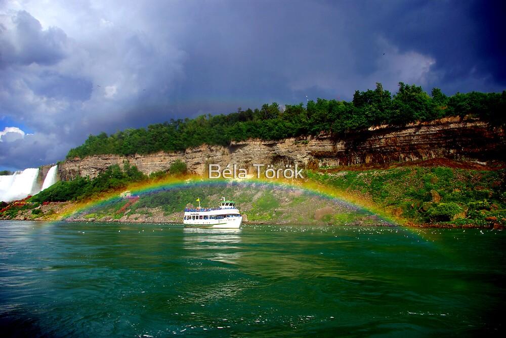 The boat in the rainbow by Béla Török