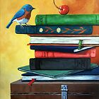 A CHERRY ON TOP - realistic still life painting by LindaAppleArt