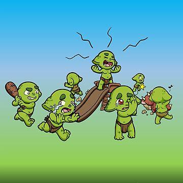 Baby Orcs at Play by EmeraldDice