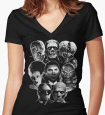 Universal Monster Gang Women's Fitted V-Neck T-Shirt